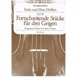 Doflein, Eri Piezas Progresivas Vol.3 (3 Violines)