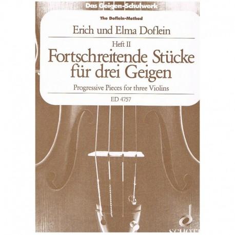 Doflein, Eri Piezas Progresivas Vol.2 (3 Violines)