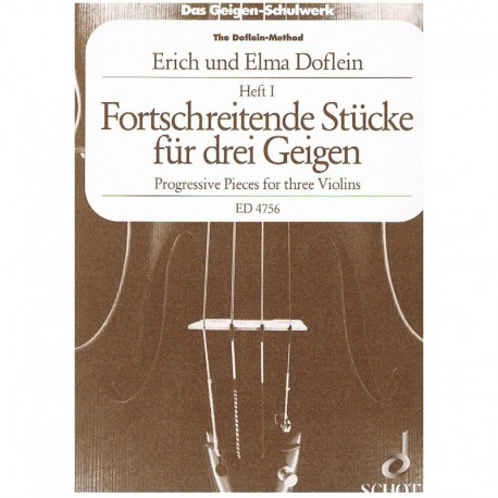 Doflein, Eri Piezas Progresivas Vol.1 (3 Violines)