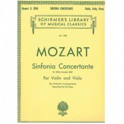 Mozart. Sinfonía Concertante K.320d (Violín, Viola, Piano)
