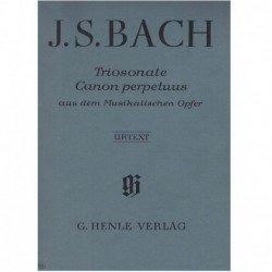 Bach, J.S. Triosonata y Canon Perpetuo BWV1079 Nos.8 y 9 (Flauta, Violín y