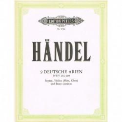 Haendel, G.F 9 Arias Alemanas (Soprano, Violin/Flauta/Oboe y Piano)