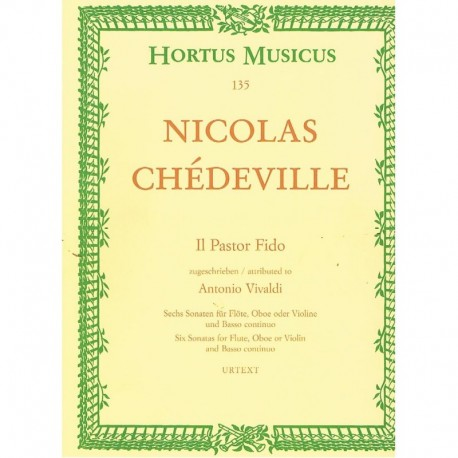 Chedeville, IL Pastor Fido. 6 Sonatas (Flauta, Oboe/Violin y Piano)