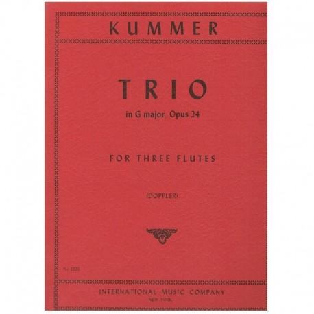 Kummer Trío en Sol Mayor Op.24 (3 Flautas)