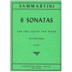 Sammartini 6 Sonatas Vol.2 (2 Flautas y Piano)
