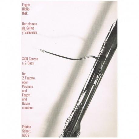 Selma y Salaverde. XXIII Canzon (2 Fagots y Piano)