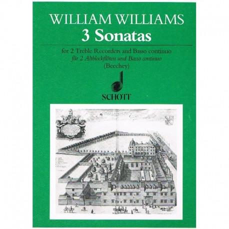 Williams, Wi 3 Sonatas para 2 Flautas Dulces Contralto y Piano