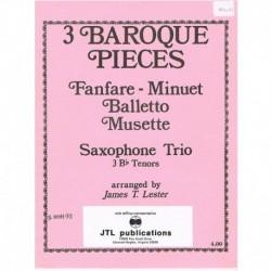 3 Piezas Barrocas (3 Saxofones Sib)