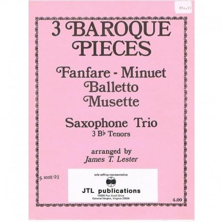 Varios. 3 Piezas Barrocas (3 Saxofones Sib)