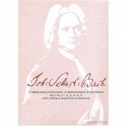 Bach, J.S. 15 Invenciones a Tres Voces Vol.2 (Saxofon Alto, Tenor y Baríton