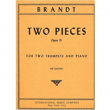 Brandt 2 Piezas Op.15 (2 Trompetas y Piano)