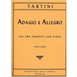 Tartini. Adagio & Allegro (2 Trompetas y Piano)