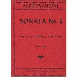 Aldrovandini Sonata Nº3 (2 Trompetas y Piano)