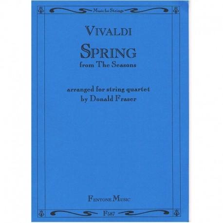 Vivaldi La Primavera (de Las Cuatro Estaciones) (2 Violines, Viola, Cell