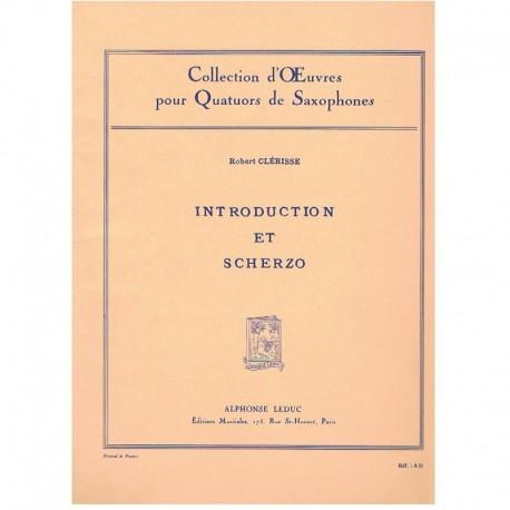 Clerisse, Ro Introduction et Scherzo (4 Saxofones)