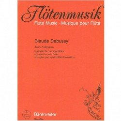 Debussy, Cla 2 Arabescas (4 Flautas)