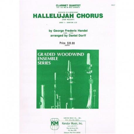 Haendel, G.F Hallelujah (4 Clarinetes)