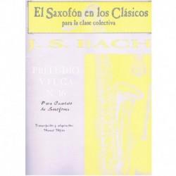 Bach, J.S. Preludio y Fuga Nº16 (4 Saxofones)