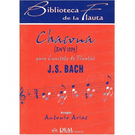 Bach, J.S. Chacona BWV1004 (4 Flautas)