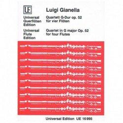 Gianella, Lu Cuarteto Sol Mayor Op.52 (4 Flautas)
