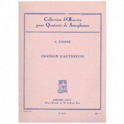 Pierné, G. Chanson D'Autrefois (4 Saxofones)