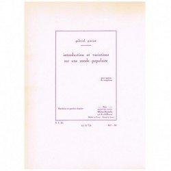 Pierné, G. Introduction et Variations sur une Ronde Populaire (4 Saxofones)
