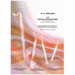 Mozart. La Flauta Mágica (4 Clarinetes)