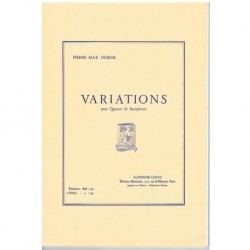 Dubois, Pier Variations (4 Saxofones)