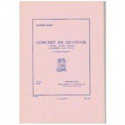 Rueff, Jeani Concert en Quatuor (4 Saxofones)