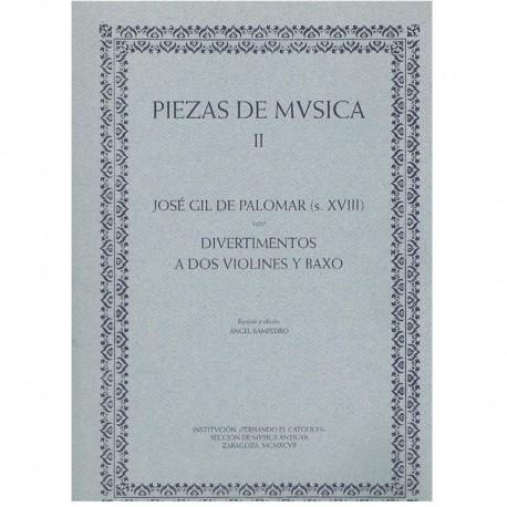 Gil de Palom Piezas de Música II. Divertimentos (2 Violines y Bajo) (Guión y