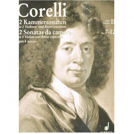 Corelli 12 Sonatas de Cámara Op.4 Vol.2 (7-12) (2 Violines y Piano)