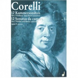Corelli 12 Sonatas de Cámara Op.4 Vol.1 (1-6) (2 Violines y Piano)
