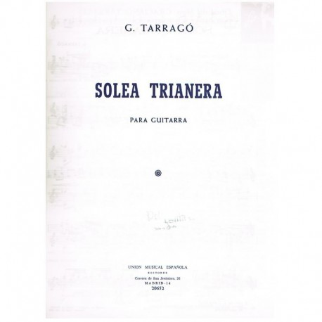 Soleá Trianera (Guitarra)