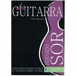 Martínez, Pa La Guitarra. 25 Estudios Introductorios (Fernando Sor) +CD