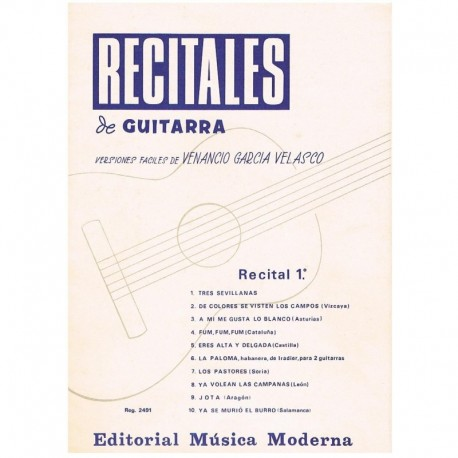 Garcia Velas Recitales de Guitarra Vol.1