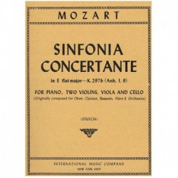 Mozart. Sinfonía Concertante Mib Mayor K.297b (2 Violines, Viola, Cello
