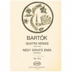 Bartok, Bela. 4 Endechas...