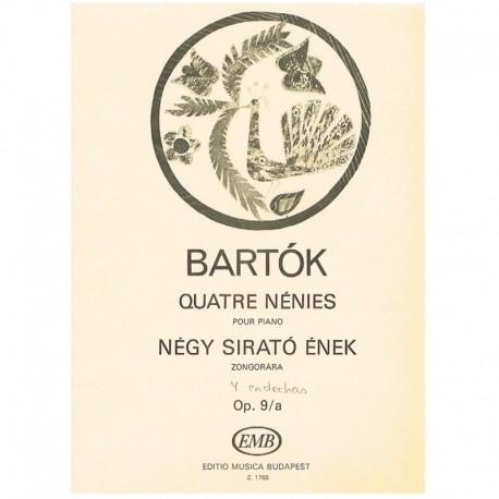 Bartok, Bela. 4 Endechas Op.9/a. Piano