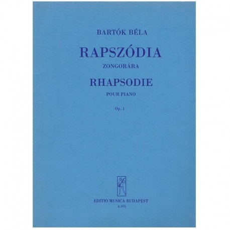 Bartok, Bela. Rapsodia Op.1 (Piano)