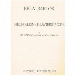 Bartok, Bela. 9 Pequeñas...