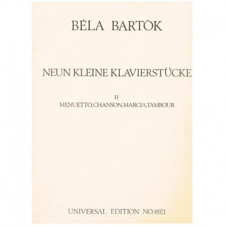 Bartok, Bela. 9 Pequeñas Piezas Vol.2 (Piano)