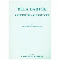 Bartok, Bela. 9 Pequeñas Piezas Vol.3 (Piano)