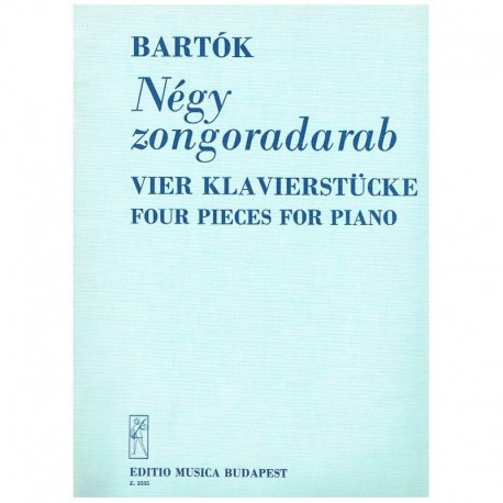 Bartok, Bela. 4 Piezas para Piano