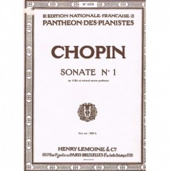 Chopin Sonata Nº1 en Do menor Op.4 (Póstumo)