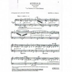 Falla, Manue Homenaje a la Tumba de Debussy