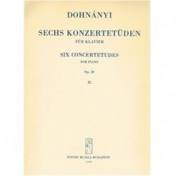 Dohnanyi 6 Estudios de...