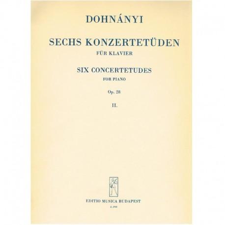 Dohnanyi 6 Estudios de Concierto Op.28 Vol.2