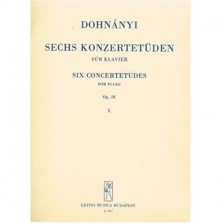 Dohnanyi 6 Estudios de Concierto Op.28 Vol.1