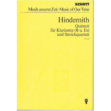 Hindemith, P Quinteto (Clarinete, 2 Violines, Viola, Cello)