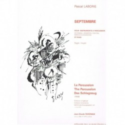 Laborie, Pas Septembre (Timbales, Vibrafono, Marimba, Bateria y Piano)